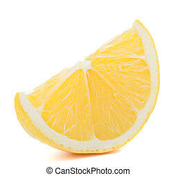 Lemon or citron citrus fruit slice isolated on white...