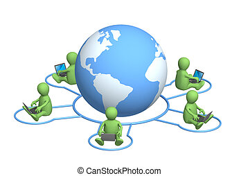 Internet - Conceptual image - global communication