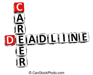 3D Deadline Career Crossword