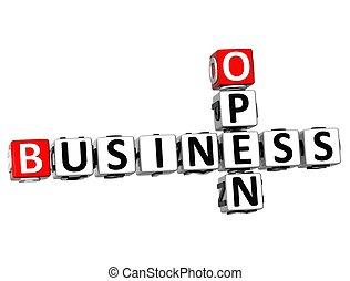 3D Open Business Crossword