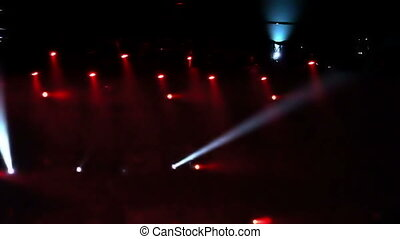 Concert Lights - Flashing strobes and spotlights at a rock...