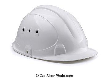 Hardhat  - White construction hard hat isolated on white