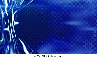 blue energy light beam flowing loop