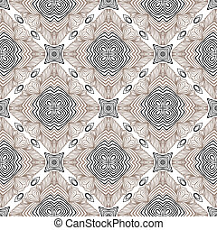floral geometric pattern, contemporary style - floral linear...