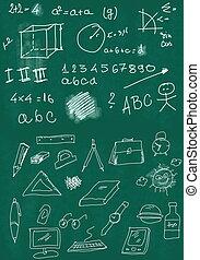 math symbols on school board