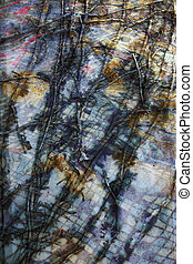 The dark image, the background, the imposition of abstract...
