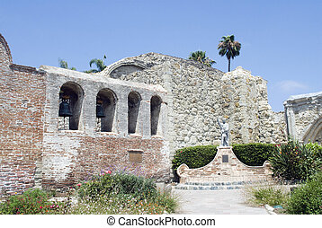 Bell Tower - Bell tower at the historic San Juan Capistrano...