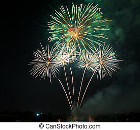 Colorful fireworks beautiful