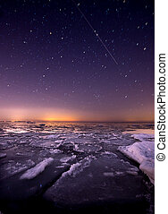 Point Pelee Ice - Ice under the stars at Point Pelee...