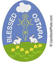 Ostara egg - Ostara, or Wiccan Spring Equinox Sabbath egg