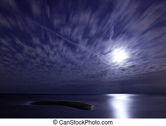 Moonrise - The moon rising over Lake St. Clair at Sand Point...