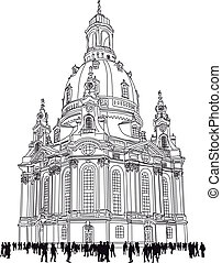 church of our lady - Dresden Germany - church of our lady -...