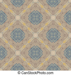 floral geometric pattern, contemporary style - art deco...