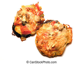 Baked Eggplant with Vegetables and parmesan cheese