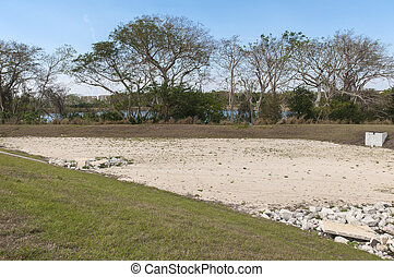 Dry Retention Pond - A Water retention area in Florida...
