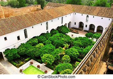 Alcazar de los Reyes Cristianos in Cordoba, Spain - Mudejar...