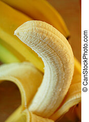 peeled banana - a fresh banana