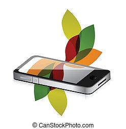 floral design smartphone mobile