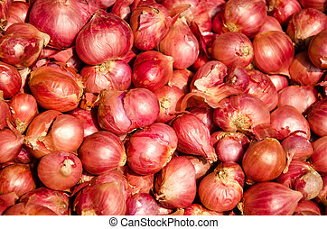 shallot is ingredient of thai food and catchup