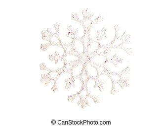 Christmas snowflake on white ground