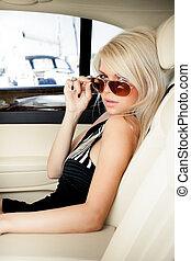 自動車, 女性, 贅沢