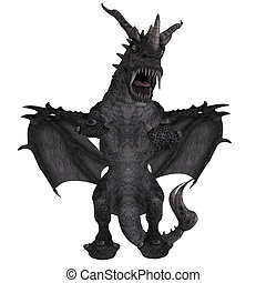 Great Fantasy Dragon - 3D Rendering of a huge Fantasy Dragon...