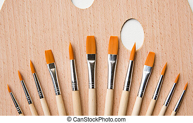 Set of paint brush