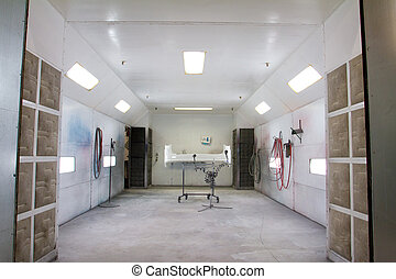 Paint Room Auto Repair Shop - The painting room at this...