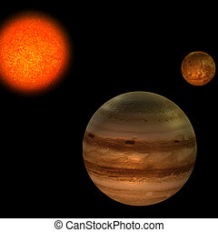 Solar System - image of the solar system. focus on: Jupiter...