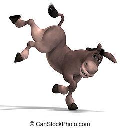 muy, lindo, toon, burro