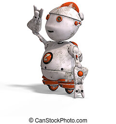 cute roboter with lot of - funny roboter with a lovely face...