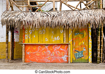Storefront in beach town