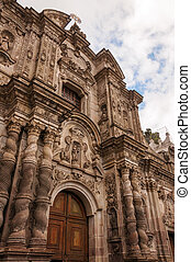 Beautiful Church Facade - View of the front of the Church of...