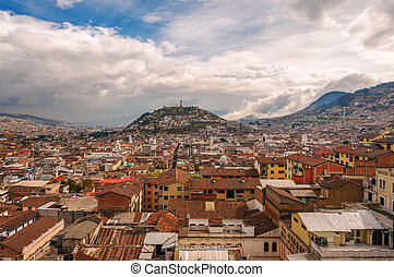 Quito Cityscape - View of urban sprawl in Quito, Ecuador