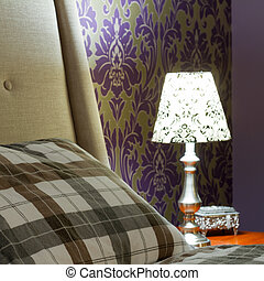 Bedroom Interior Design - Lamp lampshade bedroom interior...