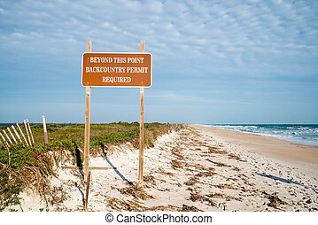 Beach Access at Beach at Canaveral National Seashore.