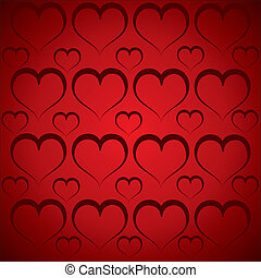 heart pattern in red background