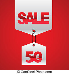 Sale Tags Sale concept, formed of red tags, great for...