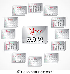 New Year calender 2013 stock vector