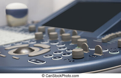 Ultrasound - detail of ultrasound control buttons with...