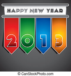 happy new year 2013 stock vector