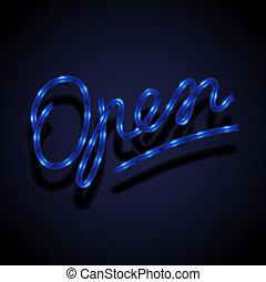 Glowing neon sign - Open