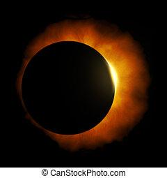 sun eclipse - An image of a nice sun eclipse