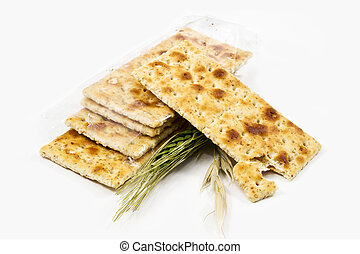 Integral crackers on white background - Integral crackers...