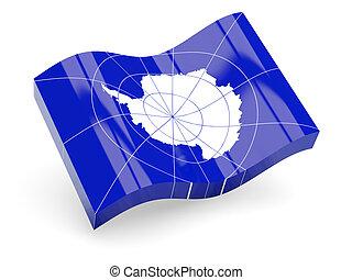 3d flag of Antarctica