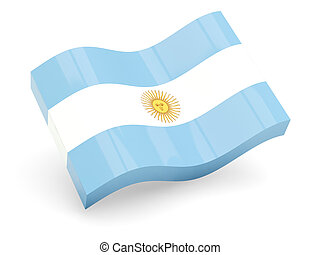 3d flag of Argentina