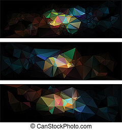 triangular style abstract background of triangles