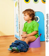 Using a potty