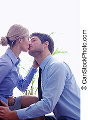 business people romance - business people in love have...