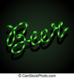 Glowing neon sign - Beer